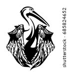 pelican bird with folded wings  ... | Shutterstock .eps vector #685824652