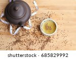perilla frutescens seed with tea | Shutterstock . vector #685829992