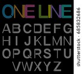 linear font. vector alphabet ... | Shutterstock .eps vector #685832686