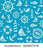 nautical background  seamless ...   Shutterstock .eps vector #685857478