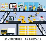 3d printing horizontal... | Shutterstock .eps vector #685859146