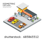 isometric building car care... | Shutterstock .eps vector #685865512
