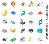 notification center icons set.... | Shutterstock .eps vector #685885102