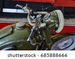 old vintage motorcycle  | Shutterstock . vector #685888666