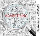 advertising. magnifying glass... | Shutterstock .eps vector #68589625