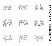 underwater crab icons set.... | Shutterstock .eps vector #685897315