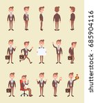 set of business man in... | Shutterstock .eps vector #685904116