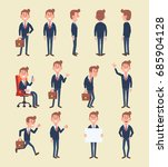 set of business man in... | Shutterstock .eps vector #685904128
