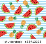 vector illustration of seamless ... | Shutterstock .eps vector #685913335