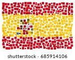 abstract spanish national flag  ... | Shutterstock .eps vector #685914106