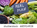 vegetables meal plan | Shutterstock . vector #685914928