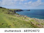 cornish coastal scene | Shutterstock . vector #685924072