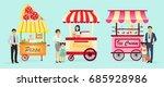 creative detailed vector street ... | Shutterstock .eps vector #685928986