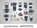 professional photographer... | Shutterstock .eps vector #685929532