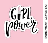 vector poster girl power.... | Shutterstock .eps vector #685931122