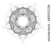 mandala. decorative round... | Shutterstock .eps vector #685931236