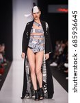 a model walks the runway on the ... | Shutterstock . vector #685936645