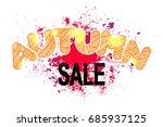 colorful autumn sale doodle... | Shutterstock .eps vector #685937125