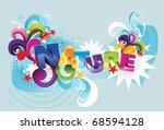 nature 3d vector illustration | Shutterstock .eps vector #68594128