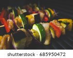 barbecue on grill  retro style | Shutterstock . vector #685950472