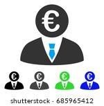 euro clerk flat vector icon....   Shutterstock .eps vector #685965412