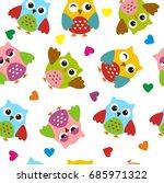 owl seamless pattern | Shutterstock .eps vector #685971322