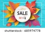 hello autumn sales vector fall... | Shutterstock .eps vector #685974778
