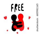 free hug concept vector... | Shutterstock .eps vector #685981165