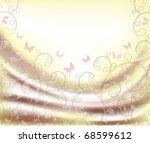 satin folds | Shutterstock .eps vector #68599612