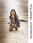 san diego  ca beach portrait | Shutterstock . vector #686007916