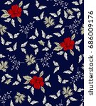 cute small floral pattern on... | Shutterstock .eps vector #686009176