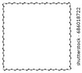 doodle frame from universal... | Shutterstock . vector #686018722