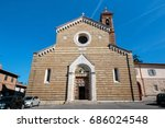 church of santorcia | Shutterstock . vector #686024548