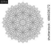 outline mandala for coloring... | Shutterstock .eps vector #686028172