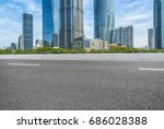 empty asphalt road front of...   Shutterstock . vector #686028388
