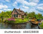 giethoorn   july 28  view of... | Shutterstock . vector #686028808
