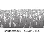 illustration of large mass of... | Shutterstock .eps vector #686048416