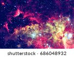 stars and galaxy in a deep... | Shutterstock . vector #686048932
