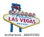 the fabulous welcome las vegas... | Shutterstock . vector #686053582