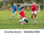 kids soccer football   young... | Shutterstock . vector #686066488