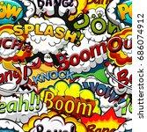 comics speech bubbles seamless... | Shutterstock .eps vector #686074912