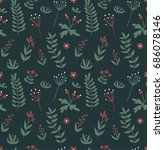 cute floral pattern for... | Shutterstock .eps vector #686078146