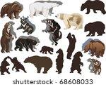 illustration with bears... | Shutterstock .eps vector #68608033