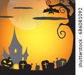 halloween background | Shutterstock .eps vector #686081092