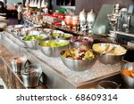 assorted salads | Shutterstock . vector #68609314