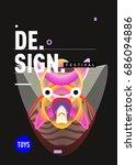 abstract modern toys design... | Shutterstock .eps vector #686094886