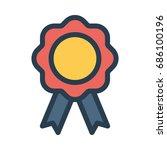 medal icon | Shutterstock .eps vector #686100196
