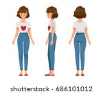 vector illustration of three... | Shutterstock .eps vector #686101012