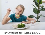 not hungry | Shutterstock . vector #686112772