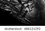 crashed soccer ball. 3d...   Shutterstock . vector #686121292